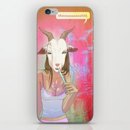 Hanging the Goat Head iPhone Skin