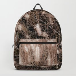 blooming grass flowers field texture abstract background Backpack