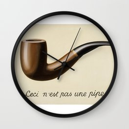 The Treachery of Images by Rene Magritte Wall Clock