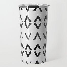 Scandinavian Diamond Pattern Travel Mug