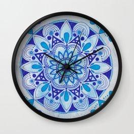 Simpe Blue Mandala Wall Clock