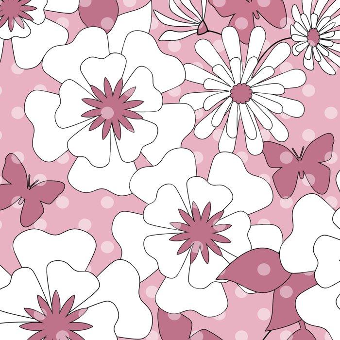 Delicate pink floral pattern. Leggings