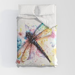 Dragonfly - Colors of summer Comforters