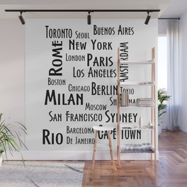 New York, Los Angeles and others city . Fashion Chic Home Decor Graphicdesign Wall Mural
