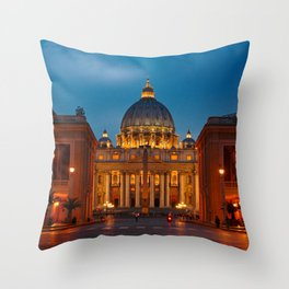 Papal Basilica of St. Peter in the Vatican Throw Pillow