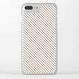 Warm Taupe Stripe Clear iPhone Case