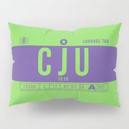 Baggage Tag B - CJU Jeju South Korea Pillow Sham