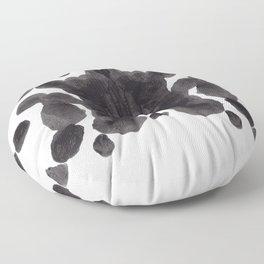 Black And White Inkblot Pattern Rorschach Test Floor Pillow