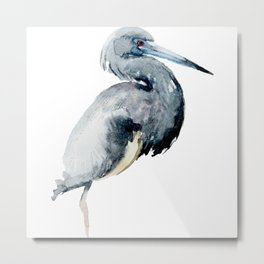 Watercolor Ciconia Painting Metal Print