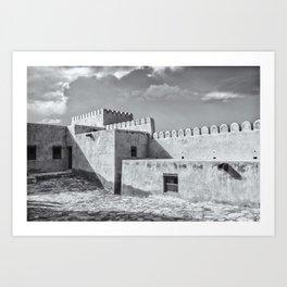Bukha Fort, Oman Art Print