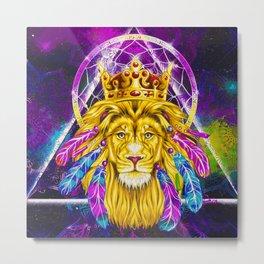 Majestic Lion (Painting) Metal Print