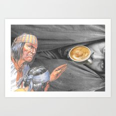 Always On The Trail Of The Best Latte When In A New Town Art Print