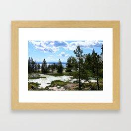 West Thumb Yellowstone Lake Framed Art Print