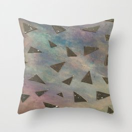 dark space meets color Throw Pillow