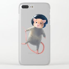 Mouse Astronaut Clear iPhone Case