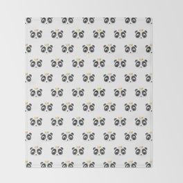 Panda King [Pattern] Throw Blanket