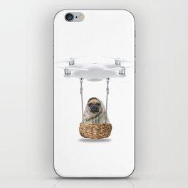 Pug Dog in a Drone iPhone Skin