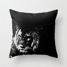 Lion Stencilled Throw Pillow