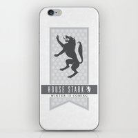 house stark iPhone & iPod Skins featuring House Stark Sigil V2 by P3RF3KT