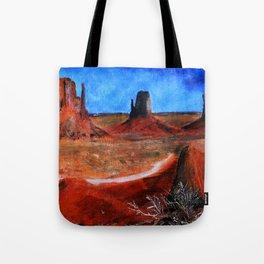 Utah Landscape Acrylic Painting Tote Bag