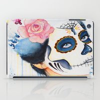day of the dead iPad Cases featuring Day of the Dead by Beth Michele
