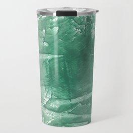 Dark sea green hand-drawn wash drawing Travel Mug