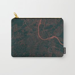 Basel Map Red Carry-All Pouch