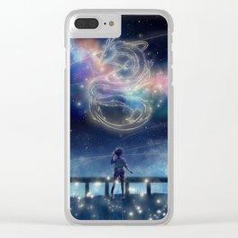 Spirited away galaxy Clear iPhone Case