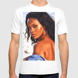 Rihanna - Celebrity Art T-shirt