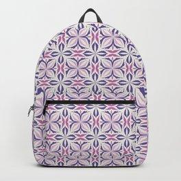 Damask pattern design in violet Backpack