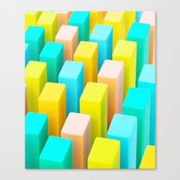 Color Blocking Pastels Canvas Print