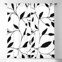 MARY ZOLES DESIGN - Düsseldorf - Abstract Black and White Ink Art Illustration Painting -  (P12 557) Blackout Curtain