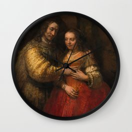 Rembrandt - Isaac and Rebecca, or The Jewish Bride (1668) Wall Clock