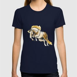 Golden Jumping Horse T-shirt