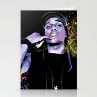 asap rocky Stationery Cards featuring ASAP  by Liamduignan