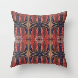 FLAMING LEAF WEBS Throw Pillow