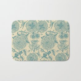 Garden Bliss - in teal & cream Bath Mat