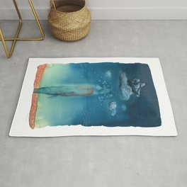Moby Dick Dreams - Watercolor - Sperm Whale Rug