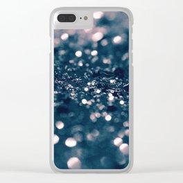 Blush Blue Lady Glitter #1 #shiny #decor #art #society6 Clear iPhone Case