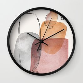 Modern Abstract Art IX Wall Clock