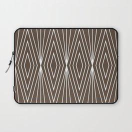 Simple Modern Diamond Lines Brown Laptop Sleeve