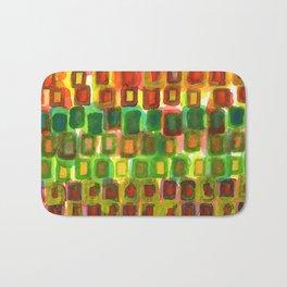 Frames under Color Bath Mat