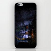 castlevania iPhone & iPod Skins featuring Castlevania: Vampire Variations- Bridge by LightningArts