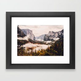 Amazing Yosemite California Forest Waterfall Canyon Framed Art Print