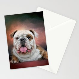 Hanging Out - Bulldog Stationery Cards