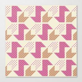 Clover&Nessie  Pink/Sand Canvas Print