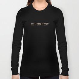 Black and Gold Minimalist Typewriter Long Sleeve T-shirt