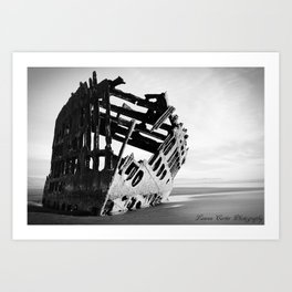 Peter Iredale Black and White Art Print