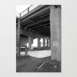Concrete Arches Canvas Print