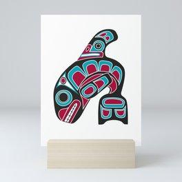 Pacific Northwest Coast Orca Whale Haida Art - Native American Tribal Mini Art Print